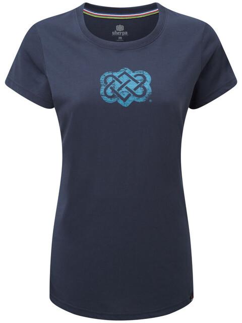 Sherpa Endless Knot - T-shirt manches courtes Femme - bleu